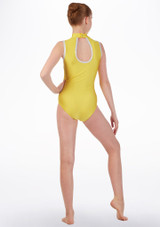 Tappers & Pointers Turtleneck Dance Leotard Yellow back. [Yellow]