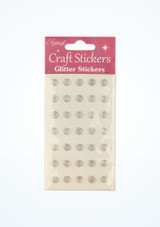 Glitter Gem Stickers Silver front. [Silver]