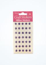Glitter Gem Stickers Purple front. [Purple]