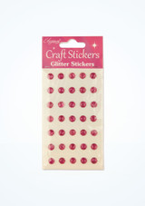 Glitter Gem Stickers Pink front. [Pink]