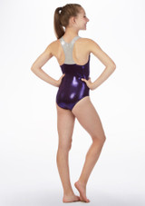 Alegra Racerback Gymnastics Leotard Purple back. [Purple]