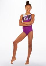 Alegra Fantasy Gymnastics Leotard Purple front. [Purple]