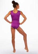 Alegra Fantasy Gymnastics Leotard Purple back. [Purple]