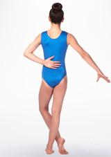 Alegra Kaylee Gymnastics Leotard Blue back. [Blue]