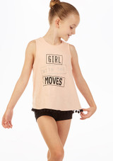 Move Dance 'Girl Moves' Top Pink front. [Pink]