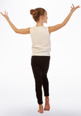 Move Dance Tank Sleeve 'Be Different' Top White back. [White]