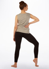 Move Dance Tank Sleeve 'Be Different' Top Grey back. [Grey]
