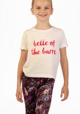 Move Dance Barre Slogan T-Shirt White front. [White]