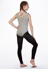Move Dance Varsity Leotard Gray Grey back. [Grey]