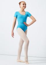 Move Dance Poppy Leotard Blue front #2. [Green]