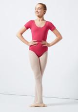Move Dance Poppy Leotard Pink front #2. [Pink]