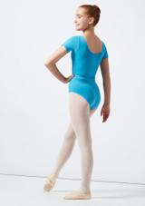 Move Dance Poppy Leotard Blue back. [Green]