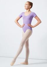 Move Dance Poppy Leotard Purple front #2. [Purple]