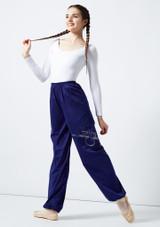 Grishko Heat Retention Warm Up Pants Blue front. [Blue]