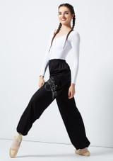 Grishko Heat Retention Warm Up Pants Black front. [Black]