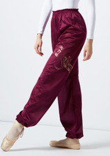 Grishko Heat Retention Warm Up Pants Purple front. [Purple]