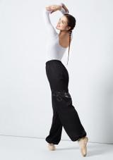 Grishko Heat Retention Warm Up Pants Black back. [Black]