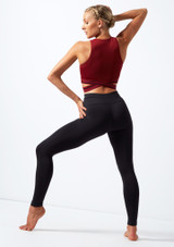 Move Dance Infinity Cross Over Crop Top Red back. [Red]