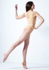 Move Dance Callisto Keyhole Crop Top Tan back. [Tan]