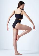 Move Dance Carpo Camisole Crop Top Black back. [Black]