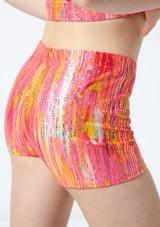 Alegra Girls Sunset Gymnastics Shorts Orange back #2. [Orange]