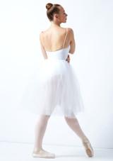 Leo's Soft Tulle Juliet Tutu Skirt White front. [White]