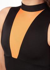 Alegra Fuse Halterneck Leotard Orange front. [Orange]