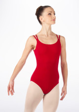 English National Ballet Cross Strapped Camisole Leotard Red. [Red]