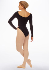 Grishko Long Sleeve Leotard Black back. [Black]