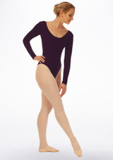 Grishko Long Sleeve Leotard Blue front. [Blue]