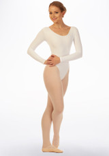 Grishko Long Sleeve Leotard White front. [White]