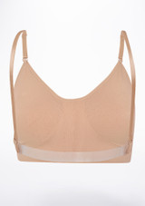 Capezio Leotard Bra Tan back. [Tan]