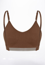 Capezio Leotard Bra Brown back. [Brown]
