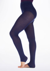 Gaynor Minden Sweater Warm Up Tights Blue side. [Blue]