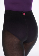 Gaynor Minden Sweater Warm Up Tights Black side. [Black]