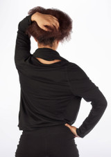 Dincwear Ladies Drape Detail Wrap Dance Top