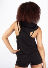 Dincwear Ladies Muscle Back Sweat Top Black [Black]
