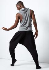 Dincwear Unisex Harem Pants Black #3. [Black]