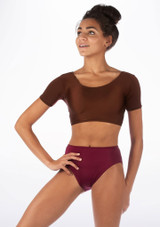 Alegra Shiny Odele Top Brown front.