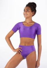 Alegra Shiny Odele Top Purple front #2.