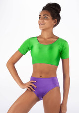 Alegra Shiny Odele Top Green front. [Green]