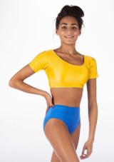 Alegra Shiny Odele Top Yellow front.