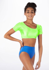 Alegra Shiny Odele Top Green front #2.