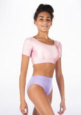 Alegra Shiny Odele Top Pink front #2.