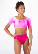 Alegra Shiny Odele Top Pink front #4.