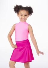 Alegra Shiny Mid Circle Skirt Pink. [Pink]