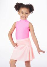 Alegra Shiny Mid Circle Skirt Pink #2. [Pink]