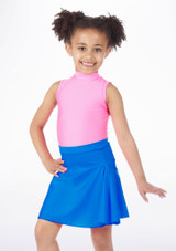 Alegra Shiny Mid Circle Skirt Blue #2. [Blue]