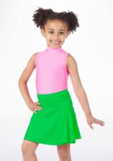 Alegra Shiny Mid Circle Skirt Green #2. [Green]