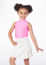 Alegra Shiny Mid Circle Skirt White. [White]